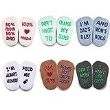 Blulu Baby Socken Geschenk Set 6 Paar Baby Dusche Geschenke Anti-Rutsch Cool Baby Geschenke Unisex Junge Mädchen Neugeborenen Vorhanden 3-12 Monate