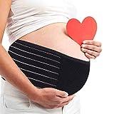 AIWITHPM Bauchband Schwangerschaft Stützgürtel - Bauchgurt für Schwangere - Schwangerschaftsgürtel stützt Taille Becken und Rücken - verstellbar - atmungsaktiv - Einheitsgröße