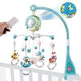 Mini Tudou Baby Crib Mobile Babybett mit Musik und Lichtern,Timing-Funktion,Projektion,Rassel zum...