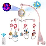 Moonvvin Baby Mobile für Babybetten mit Musik, Crib Mobile mit Nachtlicht und Projektor,...