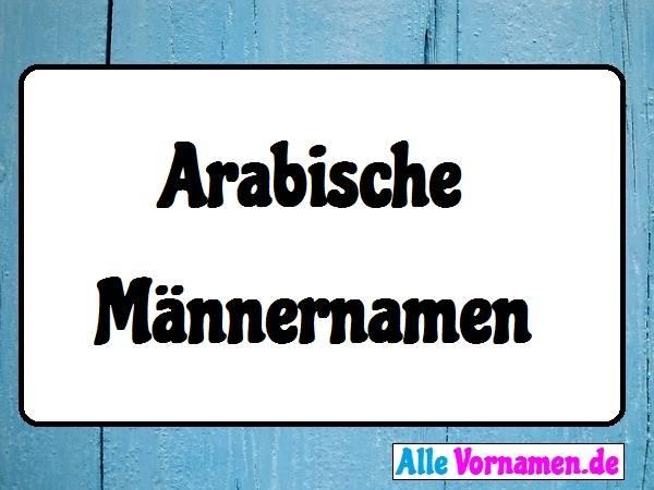 Arabische Männernamen