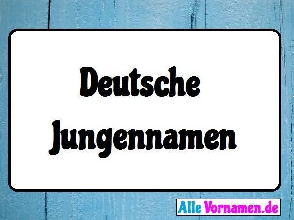 Deutsche Jungennamen