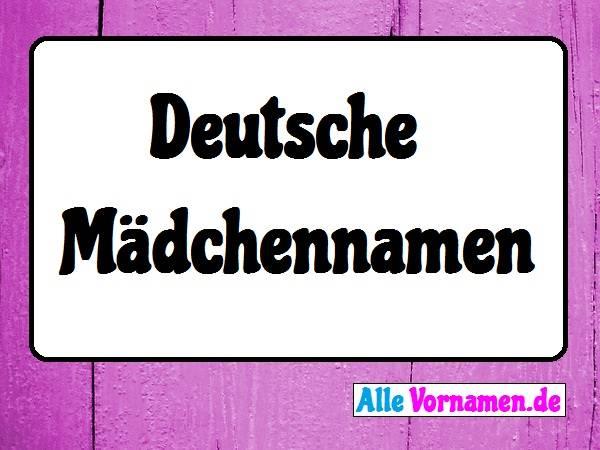 Deutsche Mädchennamen