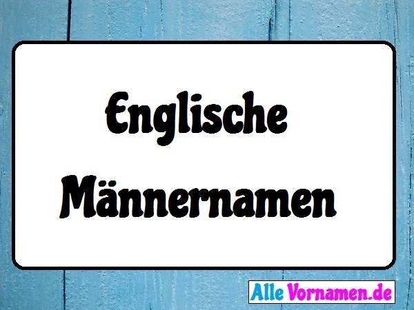 Englische Männernamen