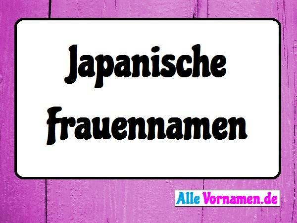 Japanische Frauennamen