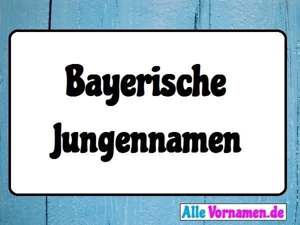 Bayerische Jungennamen